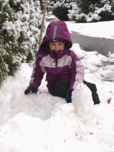 Schnee in Hausen